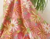 Cotton Fabric: Large Flower Collage Cotton Fabric from Wendy Slotboom's Breeze Collection - 1/2 YD - FabricFascination