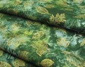 Indian Summer Meadow Gold  Leaves from Hoffman - 1 YD - FabricFascination
