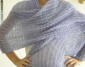 Lilac Wool Warm and Soft Scarf - aykelila