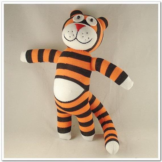 Handmade Paunchy Sock Tiger Stuffed Animal Doll Baby Toys