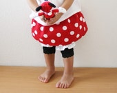 Twirl Skirt / White polka dot on Red Sizes 12m, 18m, 2T, 3T, 4T and 5T - xxLittleBoatsxx
