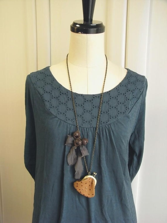кожаный кошелек ожерелье - chocochips