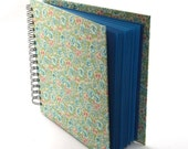 floral Scrapbook English rose blue green photo album book - nauli