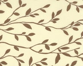 WONDERLAND Momo modern quilting fabric Moda vines woodland cream leaves 1 yd out of print  32107-24 - melodyoftheheart