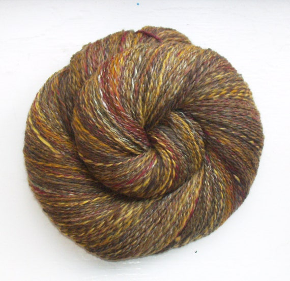 Hand spun, hand dyed Merino/Alpaca/Silk yarn - 3 1/2oz - 440 yd - Autumn Walk