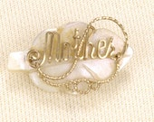 Vintage 1950s Darling MOTHER Leaf Pin - VeriteVintage