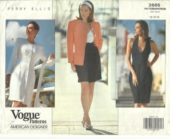1990s Marc Jacobs for Perry Ellis pattern - Vogue 2665