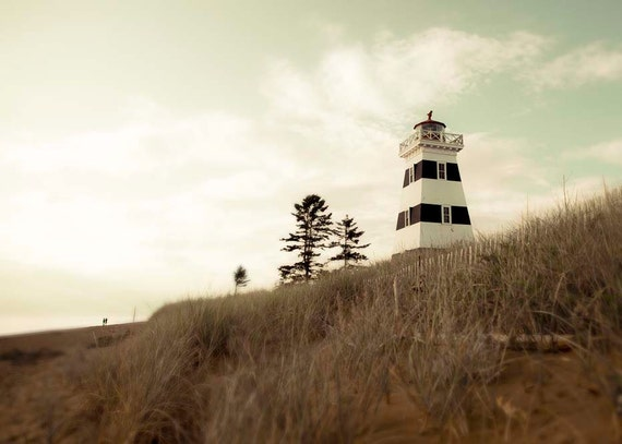 Lighthouse photo nautical summer cottage decor shark week photography mint green black white stripes, getaway, Canada