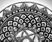 Black & White Monochrome Photography - Moroccan Bowl 5x7 Fine Art Photograph by Around the Island Photography - aroundtheisland