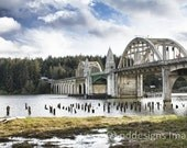 Siuslaw River Bridge - Oregon Coast fine art matted photograph 12x16 - pddesignsimages