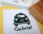 Custom London Taxi Cab Olive Wood Stamp