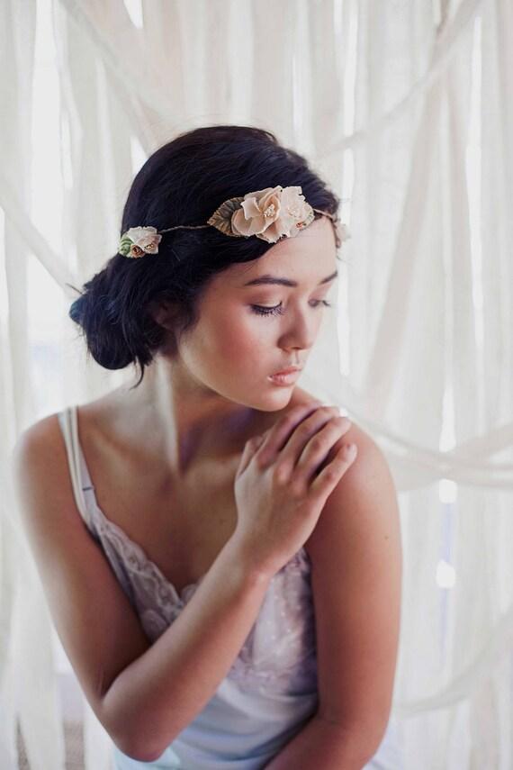 headband fleuri