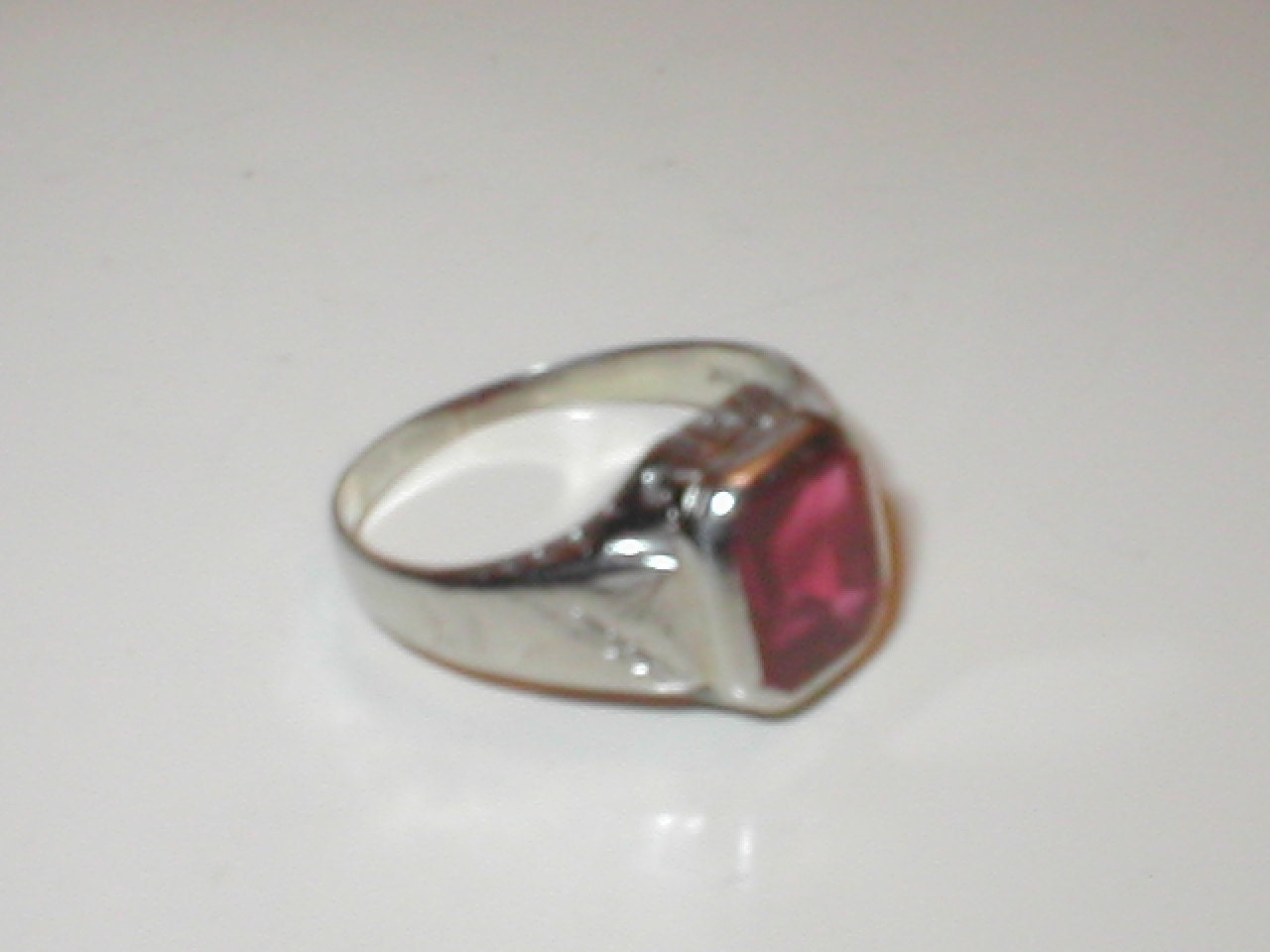 Mens Ruby Rings on Antique Men S White Gold Ruby Ring By Yesteryearglam On Etsy