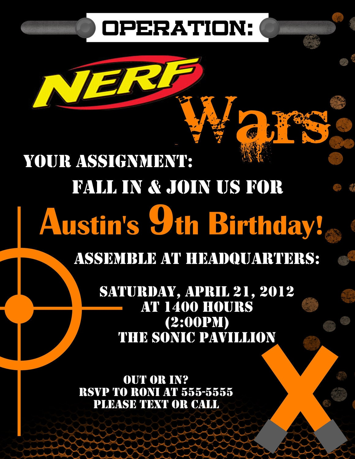 Nerf Party Invitations for your inspiration to make invitation template look beautiful