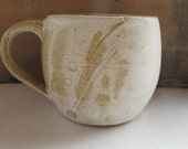 Yum Yum Yellow Mug with Shell Embelishments - NewProspectPottery