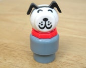 Rare Vintage Fisher Price Grey Dog - toysofthepast