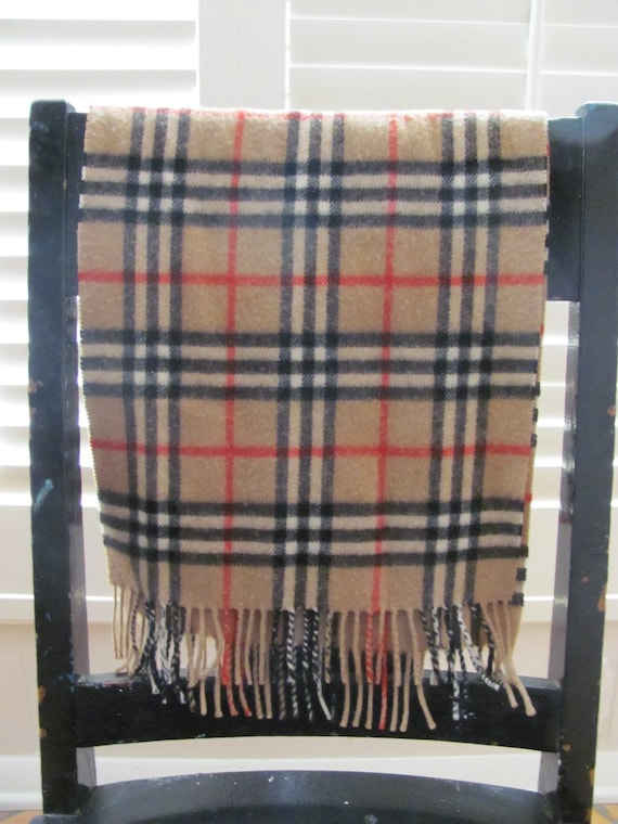Vintage Authentic Burberry Cashmere Scarf by ACollectiveNest Authentic Burberry Scarves
