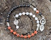 Triple Goddess Maiden Mother Crone Pagan Prayer Beads - inkleing