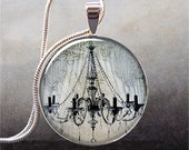 Lace Chandelier art pendant charm, resin pendant photo pendant (251)