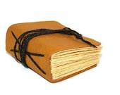 Chunky Mustard Yellow Hand Bound Leather Journal - Thenibandquill