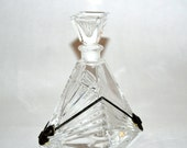 Vintage1920s Art nouveau Crystal Perfume Bottle