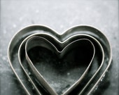 11x14 Hearts Together - Vintage Bakeware Photography Fine Art Print- tin heart cookie cutters Home Decor Kitchen Art - PhotoLadz