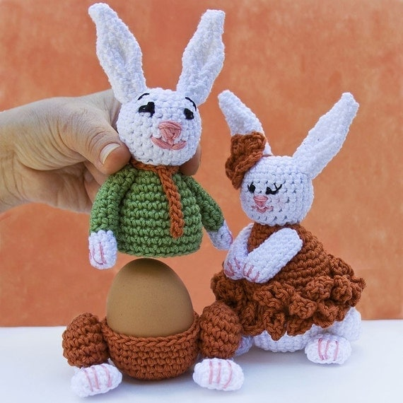 Bunnies Egg cozy warmer Crochet PATTERN