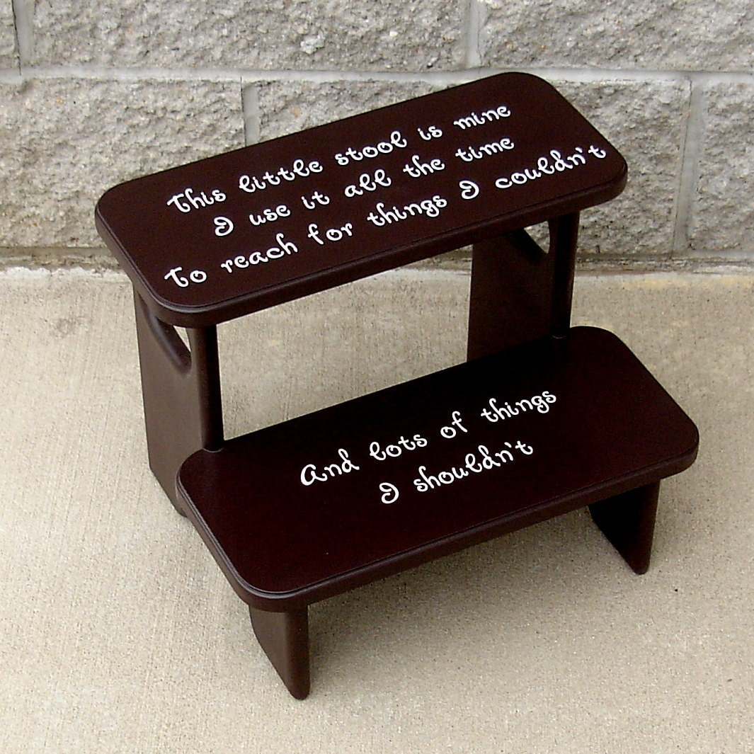 Personalized Wooden Step Stools For Kids Children Toddler
