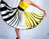 stripe yellow fashion Full Circle Summer sun sweet romantic sexy skirt