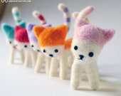Pink Candy Cat needle felted plush - Furritales