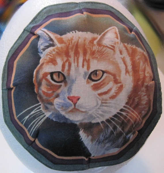 Octagonal Kitty Cat Kippah