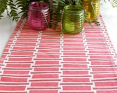 Red, White, Table Runner, Runner, Cloth Table Runner, 60 Inches - JoeyMiller