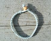 Ocean Mist Pale Blue Macrame Bracelet