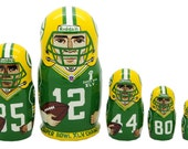 Green Bay Packers nesting doll matryoshka 5 pc - free shipping