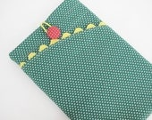 Super cute retro green, yellow and red kindle fire case kindle fire sleeve - bottleofclouds
