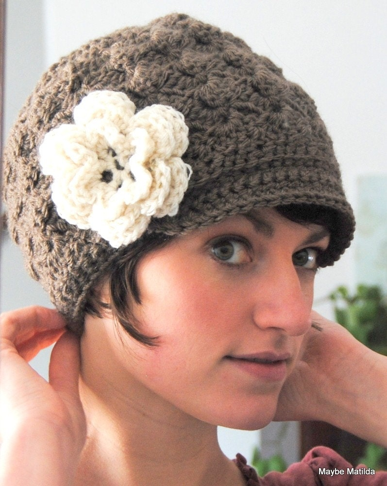 Crochet Brimmed Beanie from Maybe Matilda