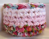 Passion for Pink Crocheted Basket