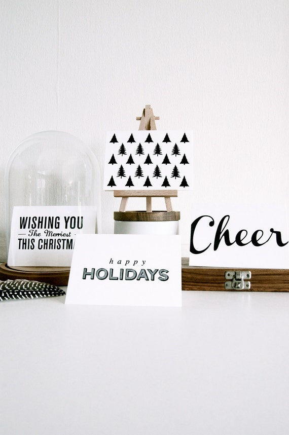 Evergreen - Letterpress Printed Holiday Card