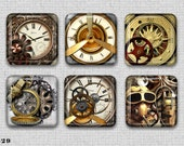 Steampunk Set 3 Cabochon Epoxy Resin Sticker Handmade 1 Inch - 6 - Studio29Supplies
