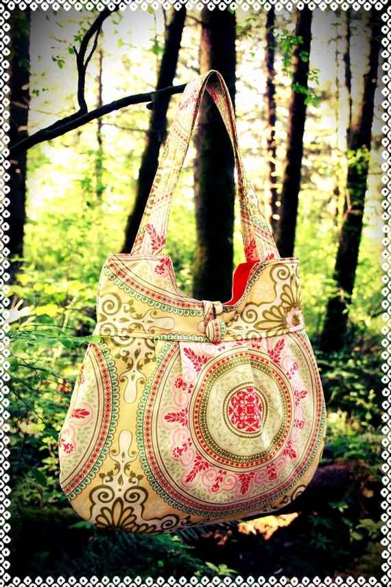 Made to Order -- The Juliet Bag in yellow Secret Garden