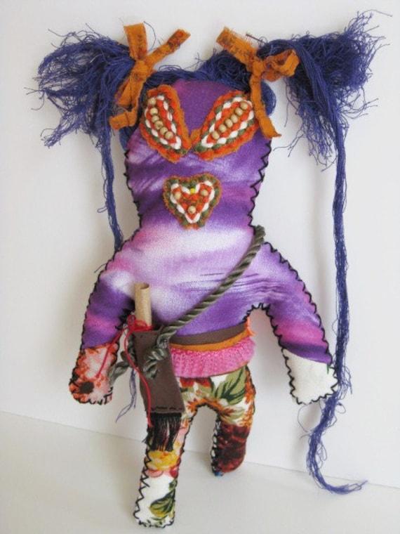 Love Spell  Purple Voodoo Doll  OOAK Voo De Doo Doll