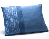 Blue nursing pillow, blue baby pillow