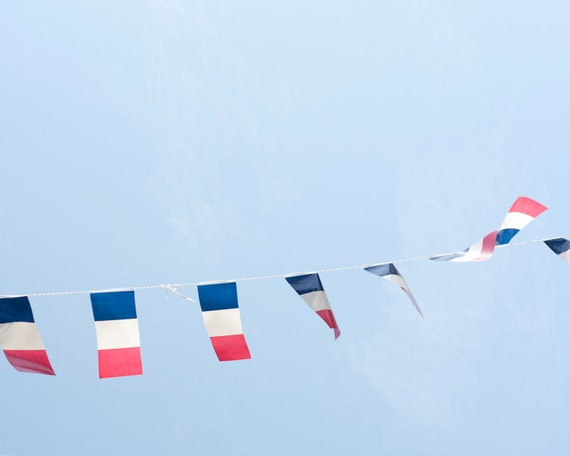 Bastille Day garland No 1, South of France - 8 x 10 - Fine Art Photography print - Affordable home decor