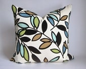 Pillow Cover Modern Leaves Branches Flocked