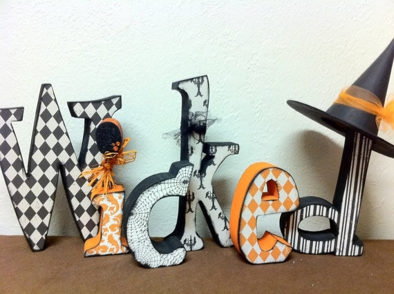 Halloween--Wicked Letter Set