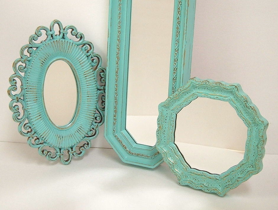 Shabby Chic Wall Mirrors Cottage Ornate by MountainCoveAntiques