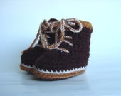 Baby Booties, TINY TIMBS, Timberland Boot Inspired, Size S - TinyTimbs