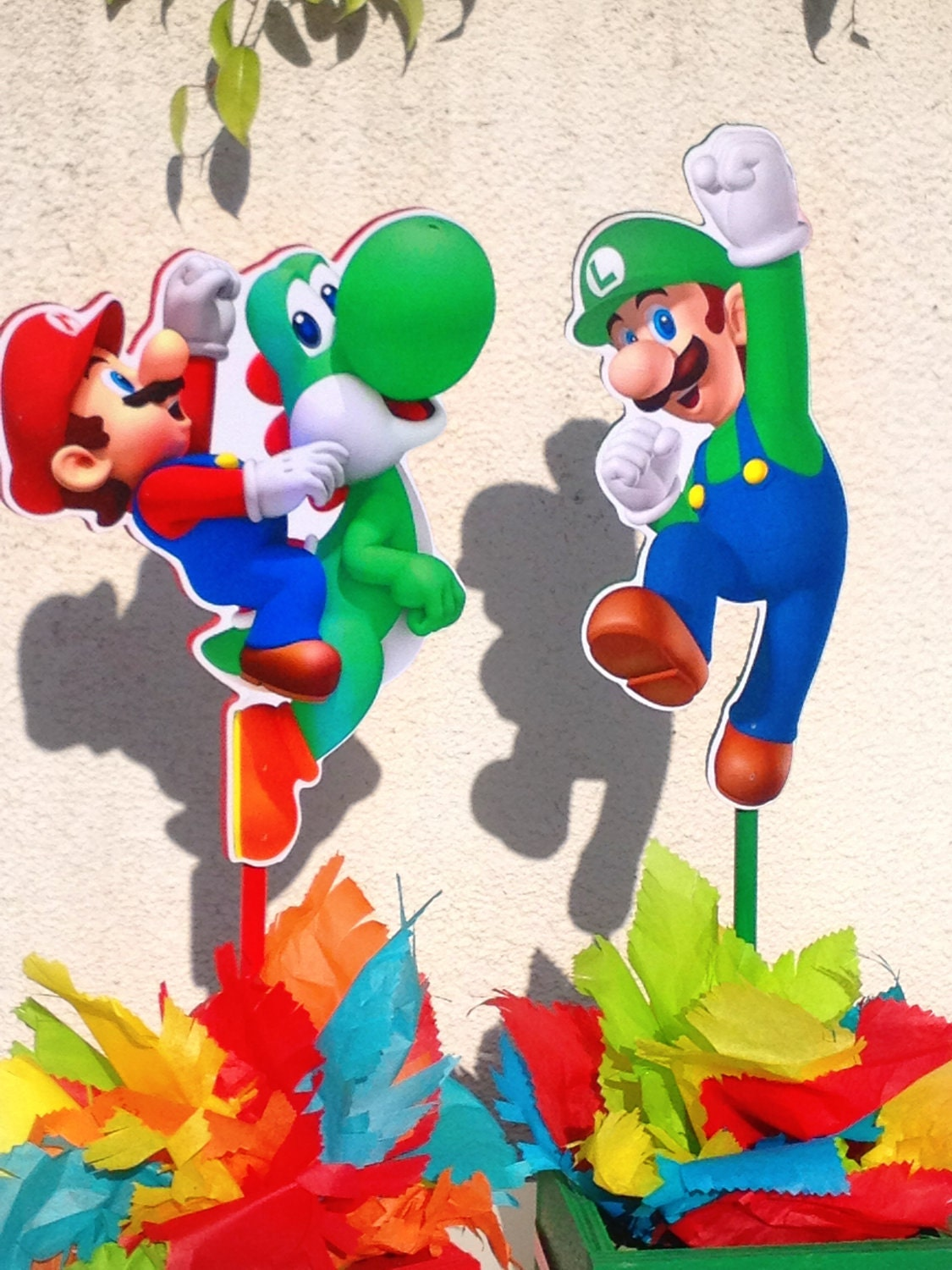 Pin Mario Bros Centerpiece With Luigi For Birthdays Or Any ...