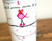 Pink Ribbon Bird : Support Breast Cancer Patients, Survivors & Family - Travel Mug - v2vozart