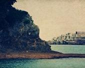 Beach Shore Photograph Fine Art Metallic photo Print 4x6 - SylviaCPhotography